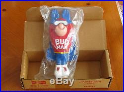Budweiser Bud Man Beer Keg Tap Handle (Unopened New in Box) Official Man Cave