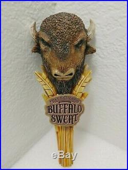Buffalo Sweat Tall Grass Brewing Bison Beauty RARE 9 Draft Beer Keg Tap Handle
