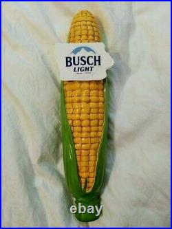 Busch Light State Of Iowa Shaped Logo Ear Of Corn Tap Handle Buschhhhh Light