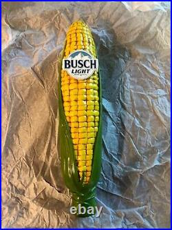 Busch Light beer tap handle ear of corn cob New in Box
