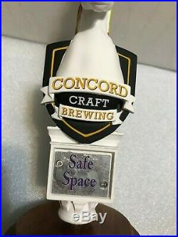 CONCORD BREWING SAFE SPACE beer tap handle. NEW HAMPSHIRE