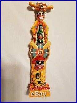 Camp Moosehead Scarce Vintage Totem Pole Beauty 11 Draft Beer Keg Tap Handle