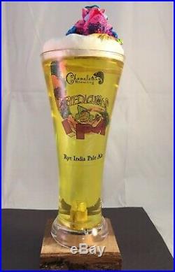 Chameleon Brewing Ryediculous Beer Tap Handle Ultra Rare Figural Beer Tap Handle