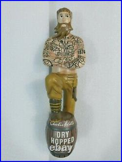 Charlie Wells Dry Hopped Lager Tattoo Man 11 Draft Beer Tap Handle Mancave Bar