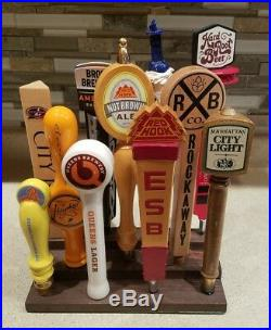 Collection of 11 New York Local Beer Tap Handles Manhattan Brooklyn Bronx Queens