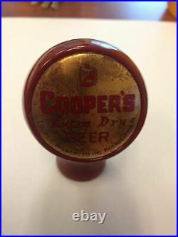 Coopers beer ball tap marker knob handle bakelite vintage antique old