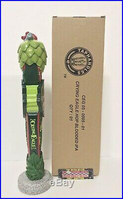 Crying Eagle Hop Blooded IPA Beer Tap Handle 12 Tall Brand New In Box RARE