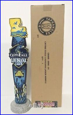 Crying Eagle Louisiana Lager Beer Tap Handle 11.5 Tall Brand New In Box RARE