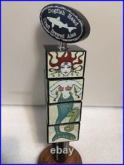 DOGFISH HEAD TARA McPHERSON MONSTER PUZZLE CUBES beer tap handle. DELAWARE