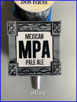 DOS EQUIS Cerveza MPA AZTEC WARRIOR beer tap handle MEXICAN PALE ALE 13