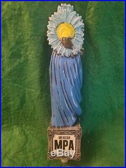 DOS EQUIS MPA AZTEC WARRIOR beer tap handle. MEXICO