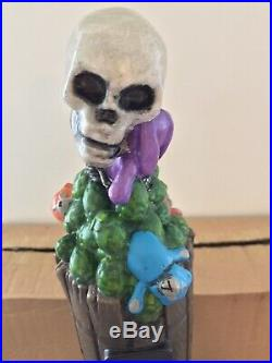 Deadman Skull Toxic Dead Man Skeleton Hops Import Rare Figural Beer Tap Handle