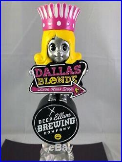 Deep Ellum Dallas Blonde Beer Tap Handle Rare Figural Girl Beer Tap Handle