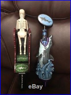 Dogfish Head 2013 Mazza Uber Shark & Namaste Skeleton Tap Handle Draft Keg Beer