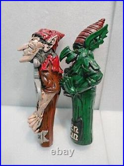 Draft Beer Bar Tap Handle Lot of 2 New Hobgoblin Green Goblin Trolls Wynchwood