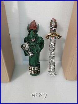 Draft Beer Bar Tap Handle Lot of 2 Thatcher's Hobgoblin Troll Green Goblin NIB
