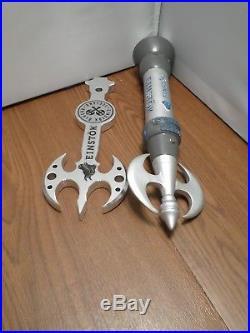 Draft Beer Keg Tap Handle Set of 2 Never Used Einstok Battle Axe Viking Warrior