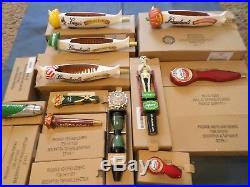 Draft Beer Keg Tap Handle Shift Knob Huge Lot 20 New with Box Leinie Canoe etc