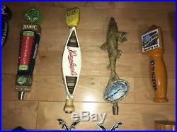 Draft Beer Tap Handle Lot of 29 and Keg Pump Mixed Baltimore Pub Mancave Topper