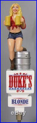 Duke's Brewhouse Blonde Beer Tap Handle New Condition Very Rare Figural