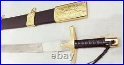 Ertugrul Gazi Sword Stainless Steel lather Tap Handle with Scabbard Real sword