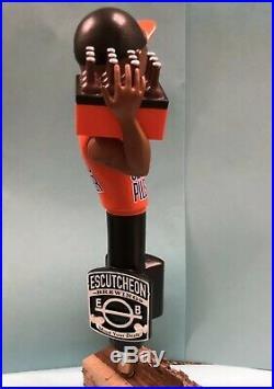 Escutcheon Brewing Fancy Clancys Pilsner Beer Tap Handle Rare Figural Beer Tap