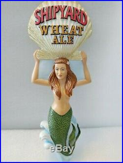 Excellent Shipyard Wheat Ale Sexy Mermaid Shell 10 Beer Keg Bar Tap Handle