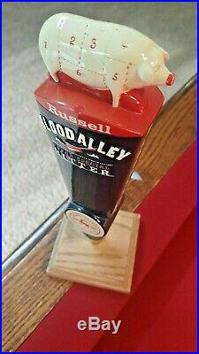 Extremely Rare Russell Brewing Blood Alley Swine Beer Tap Handle