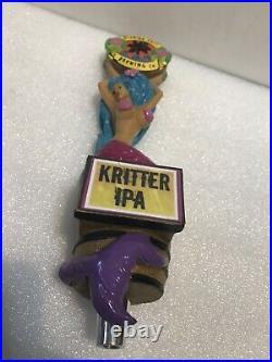FLORIDA KEYS BREWING KRITTER IPA MERMAID draft beer tap handle. FLORIDA