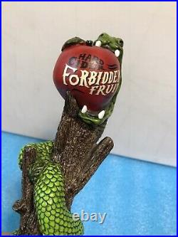 FORBIDDEN FRUIT HARD CIDER tap handle. MICHIGAN