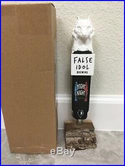False Idol Brewing Night Night Beer Tap Handle Rare Figural Wolf Beer Tap Handle