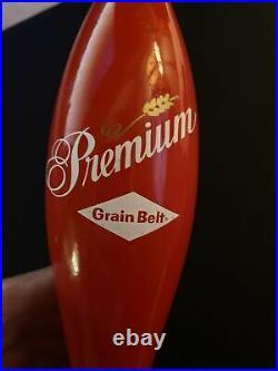 Grain Belt Premium Wood Beer Tap Handle Vintage Perfect Condition Rare 11.5