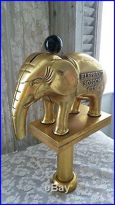 Great, original Vintage Advertising display figure /taphandle ELEPHANT beer, rare