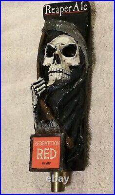 Grim Reaper Beer Tap Handle Visit my ebay store Death Redemption Red Skeleton