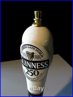 Guinness Limited Edition 250th Anniversary Stout Rare Tall Beer Bar Tap Handle