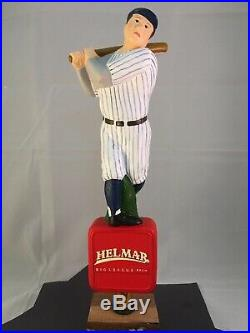 Helmar Big League Brew Beer Tap Handle Rare Figured Baseball Player Tap Handle