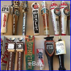 Highly Collectible lot of 14 beer tap handles handle tapper knob keg bar pub