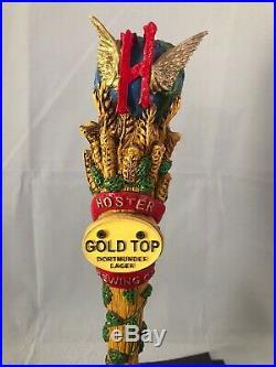 Hoster Gold Top Dortmunder Lager Beer Tap Handle Rare Figural Beer Tap Handle