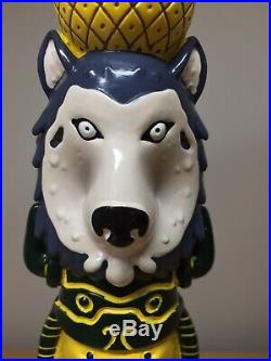 Howling Hops Wild Wolf Native American Animal Totem Pole Import Beer Tap Handle