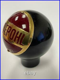 Hudepohl beer ball knob Cincinati Ohio tap marker handle vintage brewery