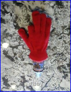 Jack Frost Three Fingers Winter Ale Silver Beer Tap Handle Saxer (Super Rare)