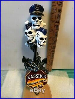 KASSIK'S ORION'S QUEST RED ALE beer tap handle. Kenai, Alaska