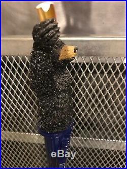 LABATT BLUE IMPORTED RARE Bear Raising a Beer Glass Tap Handle CHEERS