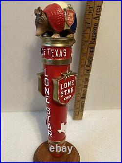 LONE STAR BEER ARMADILLO Draft beer tap handle. TEXAS
