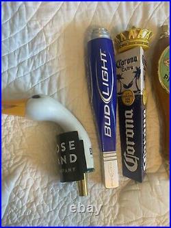 LOT OF 10 Random Beer Tap Handles Man Cave She Shed Decoration Craft