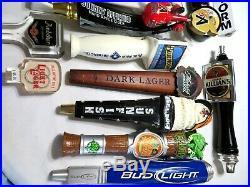LOT OF 26 BEER TAP HANDLES Heineken-Magic Hat-Becks-Big Storm-Bud-Aviator+ MORE