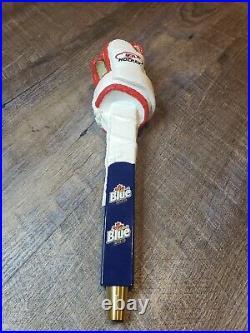 Labatt Blue Canadian Beer Hockey Glove Kegerator Brew Bar Tap Handle