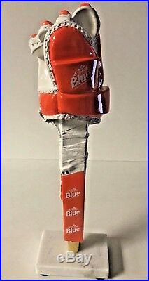 Labatt Blue Philadelphia Flyers ALL ORANGE Hockey Glove Tap Handle New F/S 13