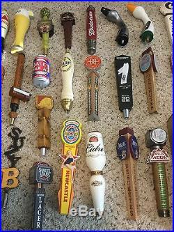 Large Brewery Beer Tap Handle Lot Shiner Oscar Blues Budweiser 37 Taps