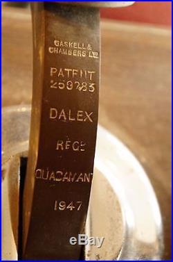 Large Vintage 1947 Gaskell & Chambers Dalex Beer Tap Handle set of 4